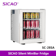 mini bar fridge glass door eco friendly 2012 new silent hotel minibar fridge hotel