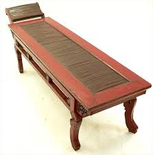 igavel auctions chinese red lacquer and bamboo daybed l8anb