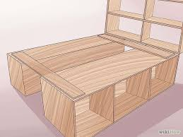 Woodworking Plans For Storage Beds by Build A Wooden Bed Frame Bed Frames Bedrooms And Room