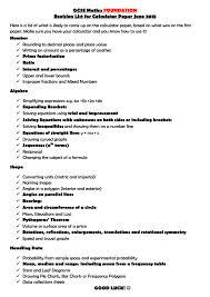gcse maths u2013 foundation revision list mr johnson u0027s year 11 blog