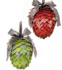hanging pinecone christmas decor made from dcwv inc paper stacks