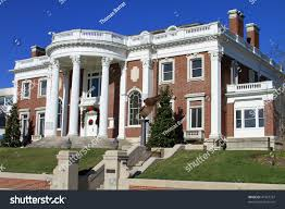 colonial mansion beautifully restored colonial mansion downtown chattanooga stock