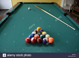pool table set up for a game stock photo royalty free image