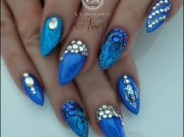 nail polish blue nails designs stunning nail gel royal blue