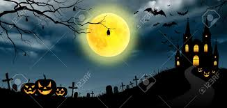 halloween full moon panorama stock photo picture and royalty