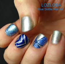 blue skittle nail art l o z l o s a