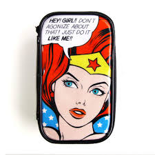Wonder Woman Accessories Rollercoaster Pop Art Cosmetic Makeup Pouch Bag Wonder Woman