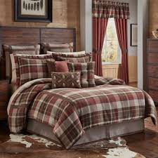 Plaid Bed Set And Brown Comforter Gpsolutionsusa