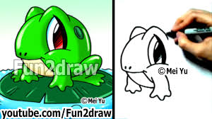 how to draw a frog learn to draw easy things to draw