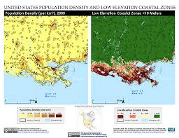 Map Of New Orleans Districts by Maps Low Elevation Coastal Zone Lecz Sedac