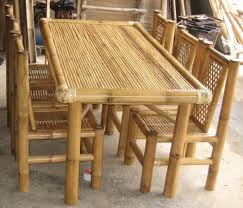 Bamboo Dining Table Set Bamboo Dining Room