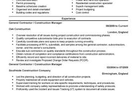 General Contractor Resume Sample by Building A Professional Resume New