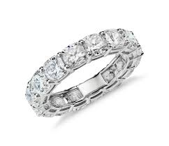 Diamond Cushion Cut Ring Cushion Cut Diamond Eternity Ring In Platinum 7 Ct Tw Blue Nile