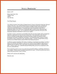 hr letter hr letter samples human resources job cover letter