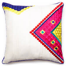patterned casablanca triangle throw pillow jane street