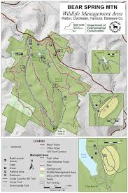 Mountain Map Bear Spring Mountain Wildlife Management Area Map Nys Dept Of