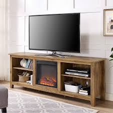 Tv Stands With Electric Fireplace Barnwood 70 Inch Tv Stand Electric Fireplace Space Heater
