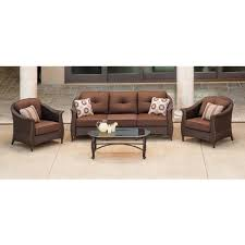 All Weather Wicker Patio Dining Sets - hanover outdoor furniture gramercy 4 piece wicker patio seating