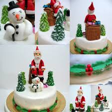 Christmas Cake Decorations Santa by Christmas Cake Veena Azmanov