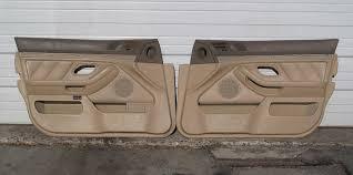 bmw e39 5 series front interior door panel skin pair sand beige