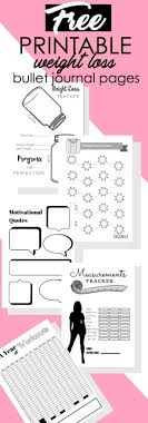 printable weight loss quotes 5 free printable bullet journal weight loss pages the petite planner
