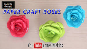 how to make paper craft roses with colored papers diy paper