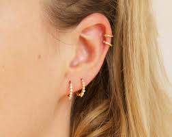 hoops earrings gold hoop earrings etsy