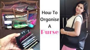 how to organize your purse handbag organization youtube
