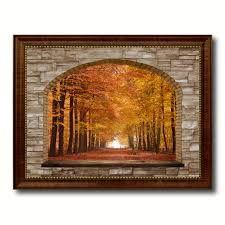 Home Decor Trees by Autumn Trees Red Leaves Picture 3d Window Wall Art Home Decor Gift