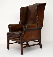 Distressed Leather Armchairs Antique Distressed Leather Wing Back Armchair 288998