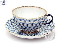 teacup and saucer ekaterina s imperial porcelain tea cobalt net tea cup and saucer