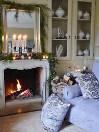 christmas decor around the fireplace sharon santoni rustic