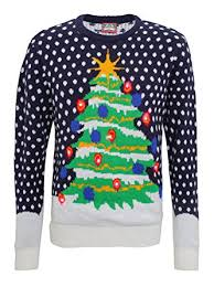 christmas tree jumper with lights 3d christmas tree knitted jumper with lights amazon co uk clothing