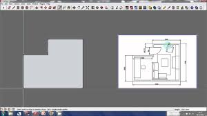 3d model floor plan sketchup tutorial creating a 3d model from a floor plan youtube