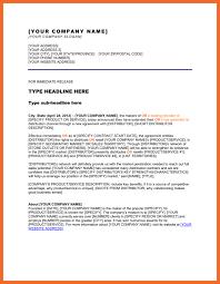 press release sample sop example