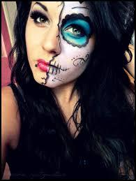 half faced sugar skull by barbiespitzmuller deviantart com on