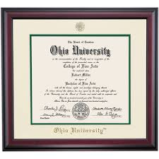 frames for diplomas traditional style for ph d and d o diploma frame ohio alumni