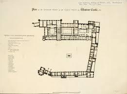 floor plan of windsor castle james hakewill 1778 1843 plan of the ground floor of the upper