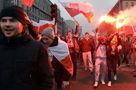 Flag Burning Protest Pictures Tens Of Thousands Of Polish Nationalists March Burn Eu Flag