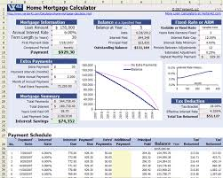Amortization Table With Extra Payments Free Home Mortgage Calculator For Excel