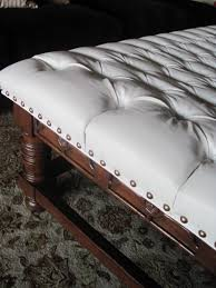 coffee table table tufted leather ottoman coffee style large