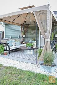 Patio Gazebo Ideas Patio Ideas Create A Covered Patio With Paint And Thrift Finds