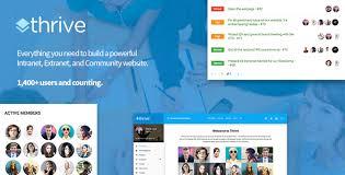 thrive intranet u0026 community wordpress theme by dunhakdis