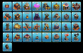 clash of clans all troops clash of clans troops max level shop partiko com toys board