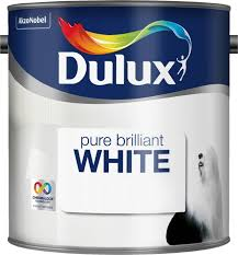 dulux pure brilliant white paint 2 5 l silk amazon co uk diy