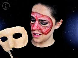 mask made of flesh and face without skin tutorial for halloween