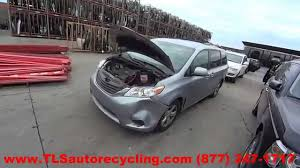 parting out 2012 toyota sienna stock 5172br tls auto recycling