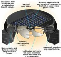solatube 122021 solar attic fan solar powered attic roof fan