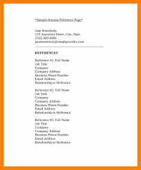 Resume Reference List Format 7 List Of Professional References Doctors Signature