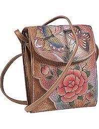 anuschka premium antique premium antique mini sling organizer the compact smart